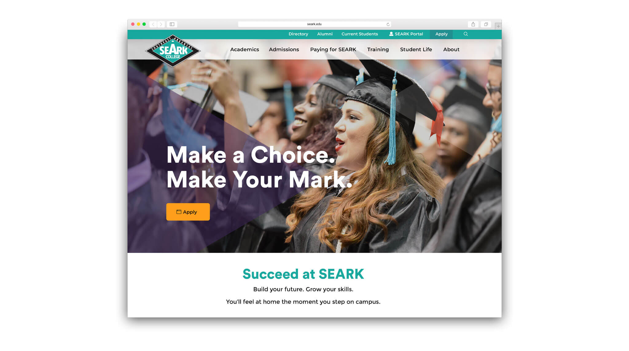 Seark.edu Screenshot
